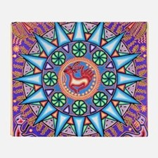 Mexican_String_Art_Gemetric_Sun_12 1 Throw Blanket
