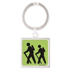 hikers Square Keychain