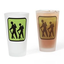 hikers Drinking Glass