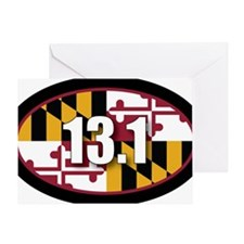 Maryland-131-OVALsticker Greeting Card