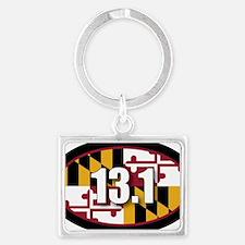 Maryland-131-OVALsticker Landscape Keychain
