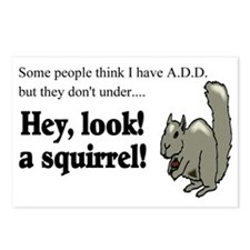 add squirell Postcards (Package of 8)