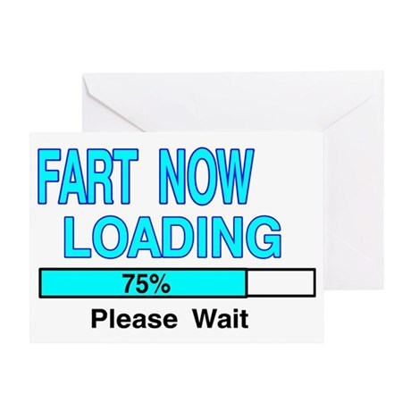 fart loading Greeting Card