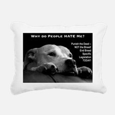 NormaJean BSL BW Rectangular Canvas Pillow