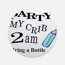 partymy crib Round Ornament