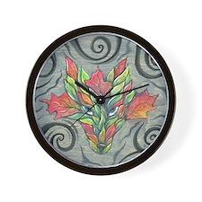 lrbgreenwolf1 Wall Clock