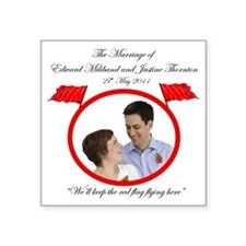 """Wed Miliband Luxury Limited Square Sticker 3"""" x 3"""""""