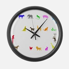 vet thing ongoing 3 trans color Large Wall Clock