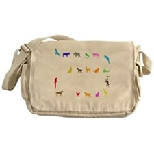 vet thing ongoing 3 trans color Messenger Bag