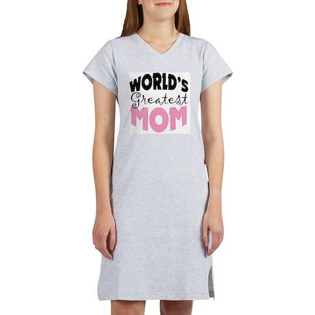 Worlds Greatest Mom White Shirt Women's Nightshirt
