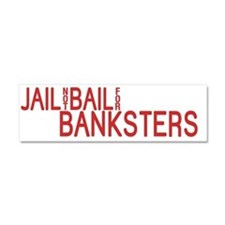 jailnotbail_red Car Magnet 10 x 3