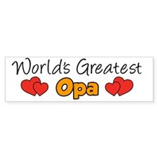 Worlds Greatest Opa Mug Bumper Sticker