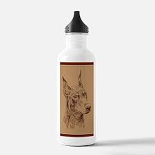 Doberman_Pinscher_Br_K Water Bottle
