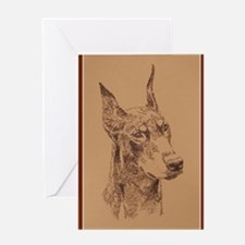 Doberman_Pinscher_Br_KlineZ Greeting Card