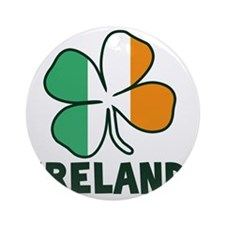 Ireland 4 Leaf Round Ornament
