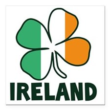 "Ireland 4 Leaf Square Car Magnet 3"" x 3"""