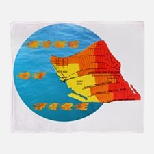 tsunami ring of fire pacific ocean Throw Blanket