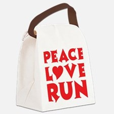 peace love run red Canvas Lunch Bag