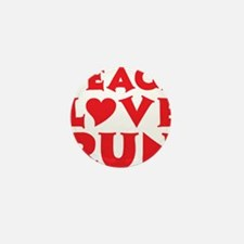 peace love run red Mini Button