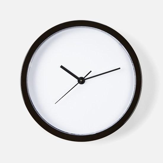 peace love run white Wall Clock