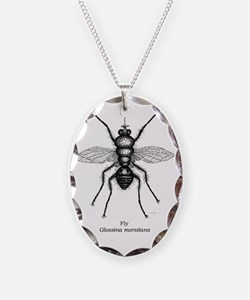 Tsetse fly--baby clothing--cor Necklace