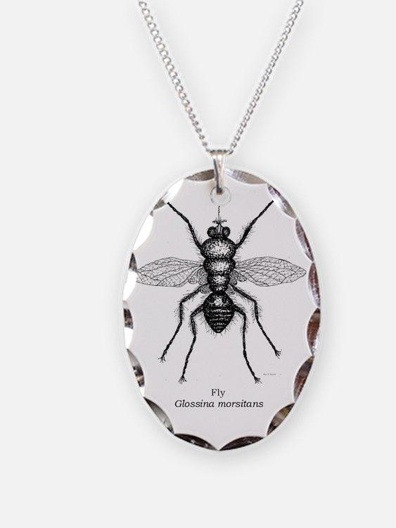 Tsetse fly--baby clothing--cor Necklace