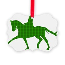 trot glowing plaidgreen Ornament
