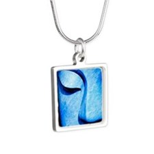 bluebuddha Silver Square Necklace
