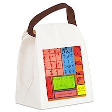 F-bottom-brite Canvas Lunch Bag