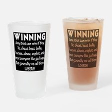 winning_losers_inverted Drinking Glass