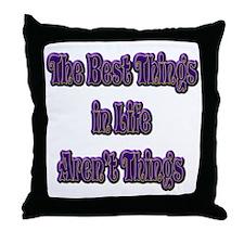 10x10bestthingsTXT Throw Pillow