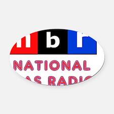 nbr not npr national bias radio Oval Car Magnet