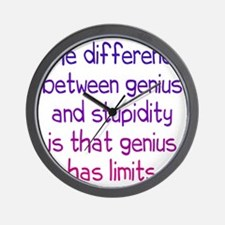 genius-stupidity1 Wall Clock
