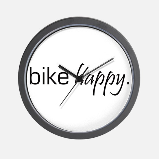 Bike Happy Wall Clock