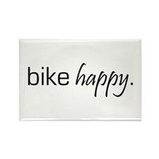 Bike Happy Rectangle Magnet
