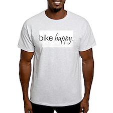 Bike Happy Ash Grey T-Shirt
