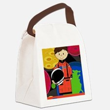 Spaceman Scene Canvas Lunch Bag