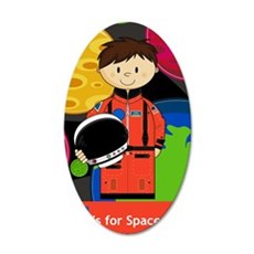 Spaceman Scene 35x21 Oval Wall Decal
