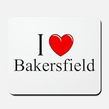 """I Love Bakersfield"" Mousepad"