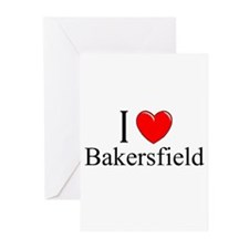 """""""I Love Bakersfield"""" Greeting Cards (Pk of 10)"""