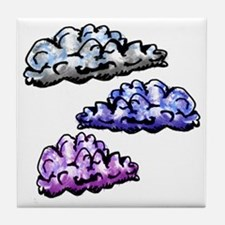 Cloudy Day Baby Blanket Tile Coaster