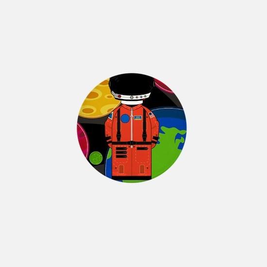 Spaceman in Helmet Mini Button