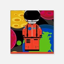 "Spaceman in Helmet Square Sticker 3"" x 3"""