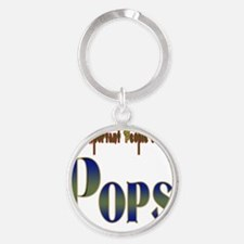 Very Important People Call Me POPS Round Keychain
