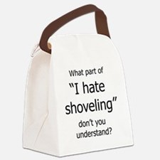 IHateShoveling Canvas Lunch Bag