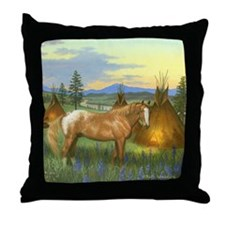 Appaloosa Sunset Throw Pillow