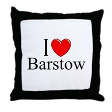 """I Love Barstow"" Throw Pillow"