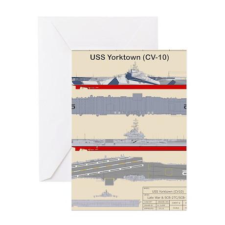 Essex-Yorktown-T-Shirt_Back Greeting Card