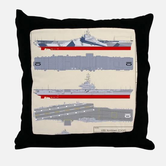 Essex-Yorktown-T-Shirt_Back Throw Pillow