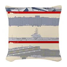 Essex-Yorktown-T-Shirt_Back Woven Throw Pillow
